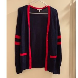 Red and Navy Cardigan